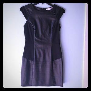 BCBGeneration black faux leather mini dress